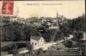 Ak Vihiers Maine et Loire, Vue generale