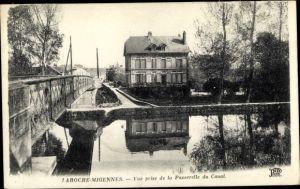 Ak Laroche Migennes Yonne, Vue prise de la Passerelle du Canal