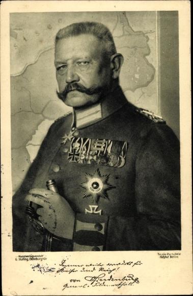 Ak Generalfeldmarschall Paul von Hindenburg, Orden