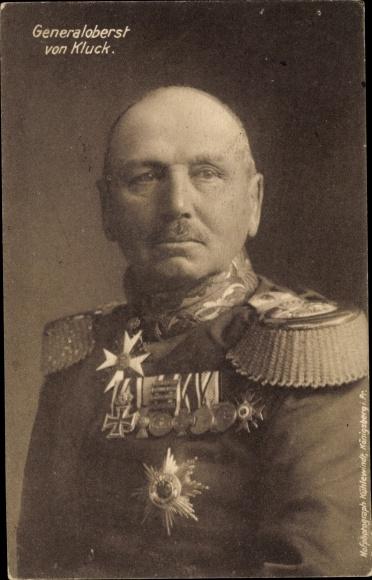 Ak Generaloberst Alexander von Kluck, Orden
