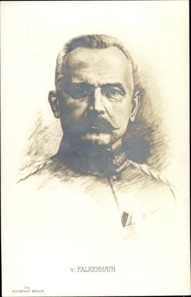 Künstler Ak General Erich von Falkenhayn, RPH 24