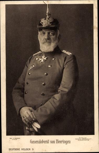 Ak Generaloberst von Heeringen mit Pickelhaube, Uniform