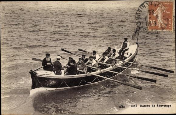 Ak Bateau de Sauvetage, Rettungsboot