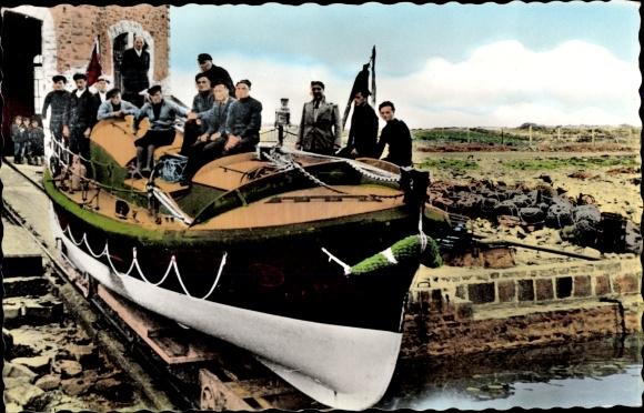 Ak La Hague Goury Manche, Le Canot de Sauvetage, Victoire des Alliés