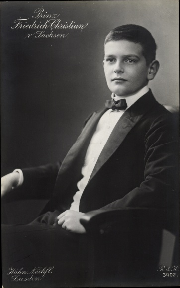 Ak Prinz Friedrich Christian von Sachsen