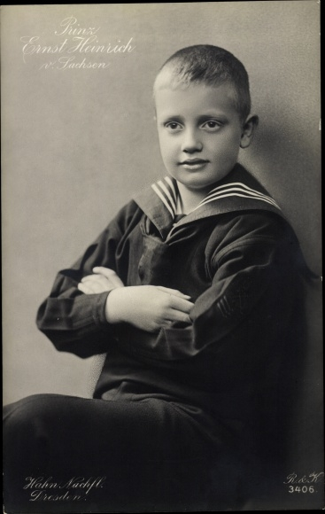 Ak Prinz Ernst Heinrich von Sachsen, Portrait