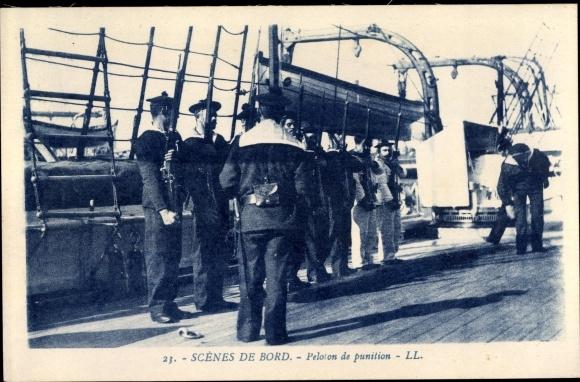 Ak Scenes du Bord, Peloton de punition, Seeleute