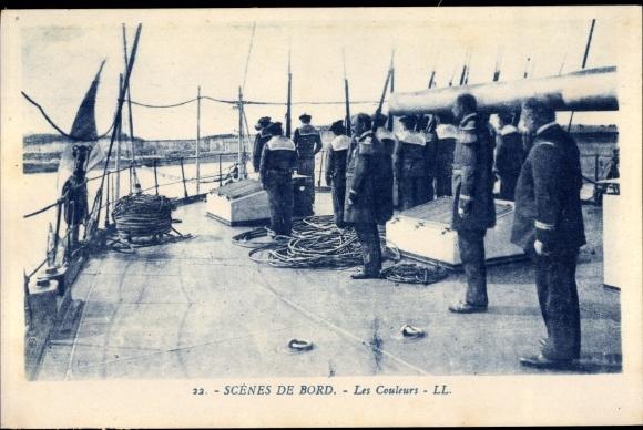 Ak Scenes du Bord, Les Couleurs, Seeleute