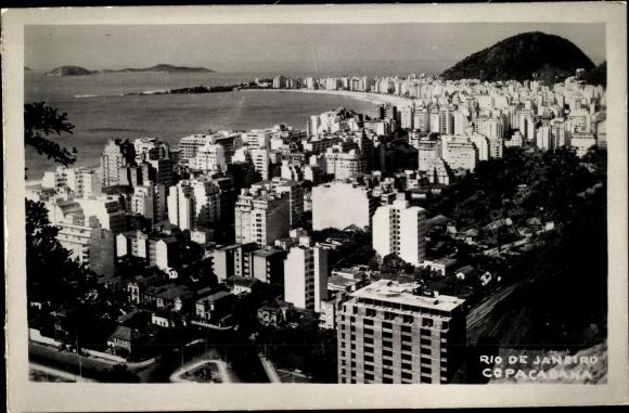 Ak Rio de Janeiro Brasilien, Copacabana, general view of the city