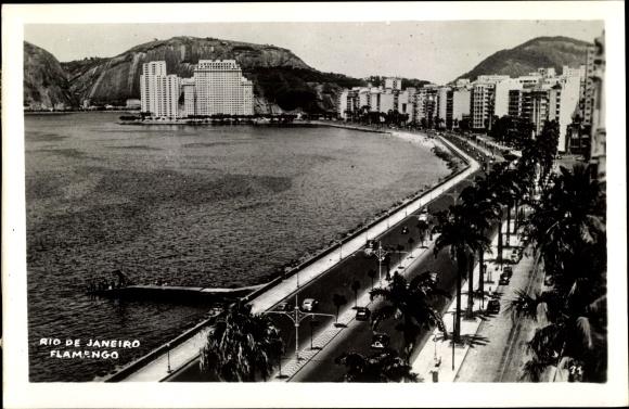 Ak Rio de Janeiro Brasilien, Flamengo, beach