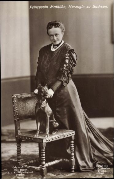 Ak Prinzessin Mathilde zu Sachsen, Portrait