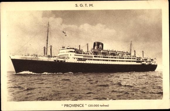 Ak Dampfer Provence, SGTM