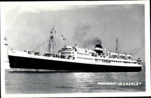 Ak Dampfer President de Cazalet, Compagnie de Navigation Mixte