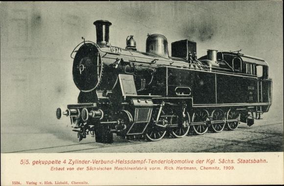 Ak Deutsche Eisenbahn, Dampflokomotive, Lok 1534