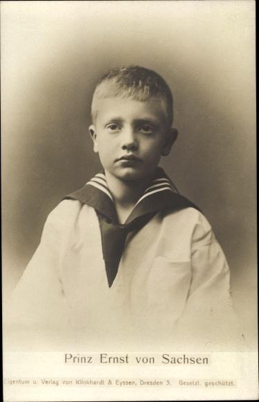 Ak Prinz Ernst von Sachsen im Matrosenanzug