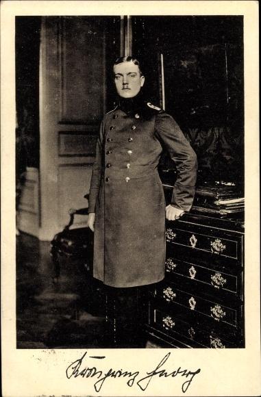 Ak Kronprinz Georg von Sachsen