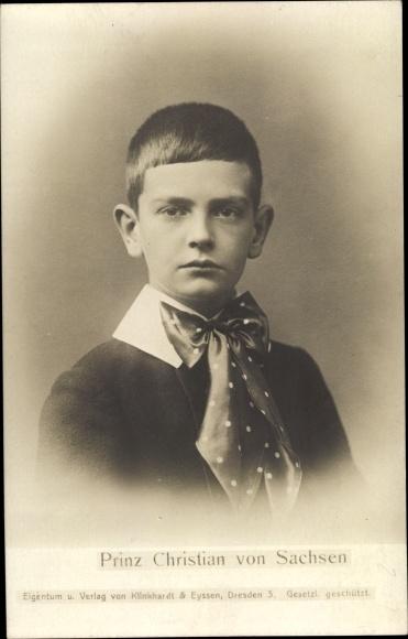 Ak Prinz Christian von Sachsen, Portrait