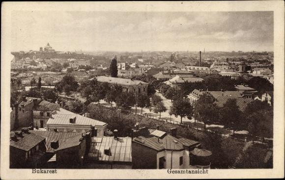 Ak București Bukarest Rumänien, Gesamtansicht