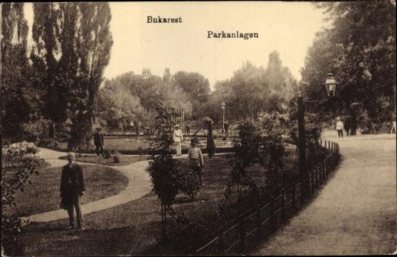 Ak București Bukarest Rumänien, Parkanlagen