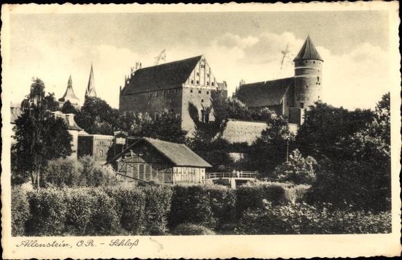 Ak Allenstein in Ostpreußen, Ansicht des Schlosses