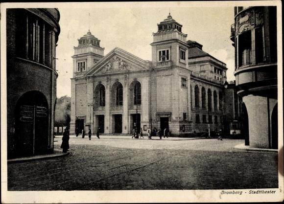 Ak Bydgoszcz Bromberg Westpreußen, Stadttheater