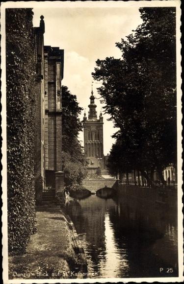 Ak Gdańsk Danzig, Blick auf St. Katharinen