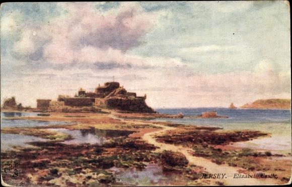 Künstler Ak Wimbush, Henry B., Jersey Kanalinseln, Elizabeth Castle