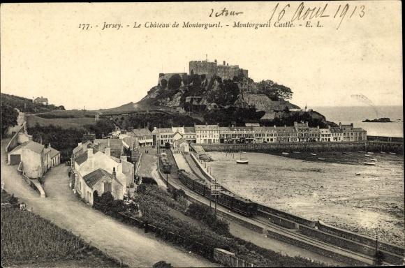 Ak Gorey Saint Martin Jersey Kanalinseln, Mont Orgueil Castle