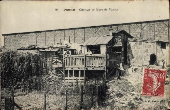 Ak Pantin Seine Saint Denis, Champs de Mars de Pantin