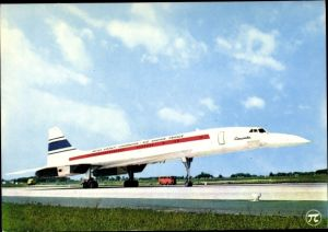 Ak Concorde der British Aircraft Corporation Sud Aviation France