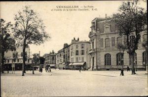 Ak Versailles Yvelines, La Poste, rue des Chantiers