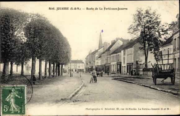 Ak Jouarre Seine et Marne, Route de la Ferté sous Jouarre