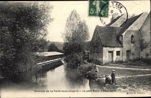 Ak Courcelles Seine et Marne, Le petit Morin