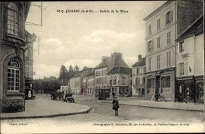 Ak Jouarre Seine et Marne, Entrée de la Place
