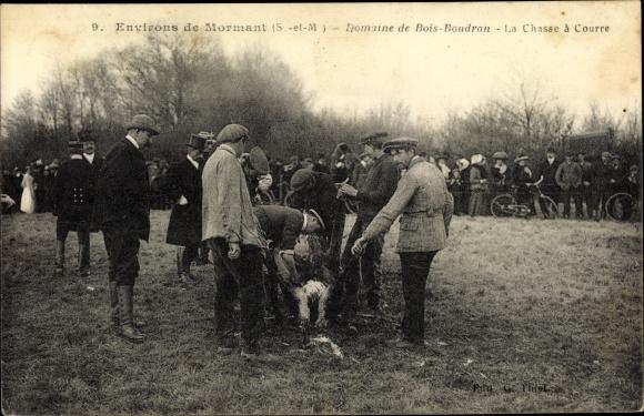 Ak Mormant Seine et Marne, Domaine de Bois Boudran, la Chasse à Courre