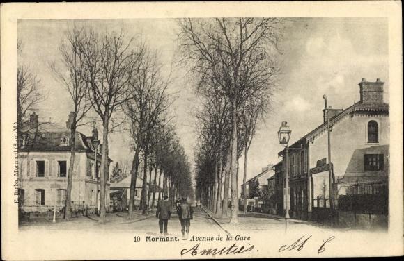 Ak Mormant Seine et Marne, Avenue de la Gare