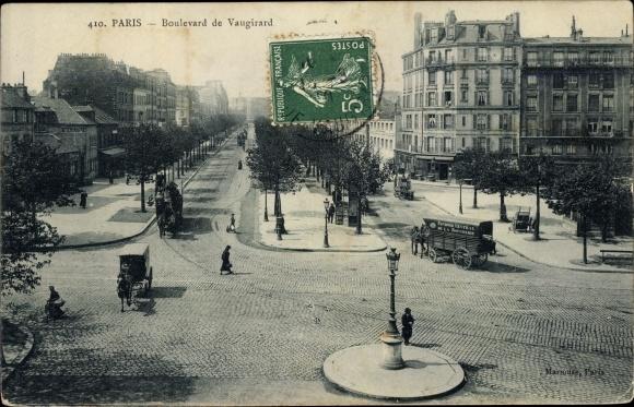 Ak Paris XV., Boulevard de Vaugirard