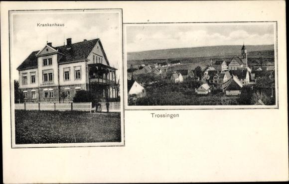 Ak Trossingen Kreis Tuttlingen, Krankenhaus, Gesamtansicht