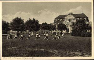 Ak Nordholz Wurster Nordseeküste Landkreis Cuxhaven, Kindererholungsheim, Gymnastik
