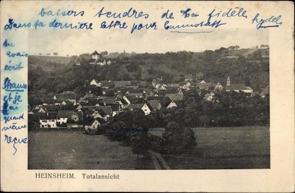 Ak Heinsheim Bad Rappenau im Kreis Heilbronn, Totalansicht