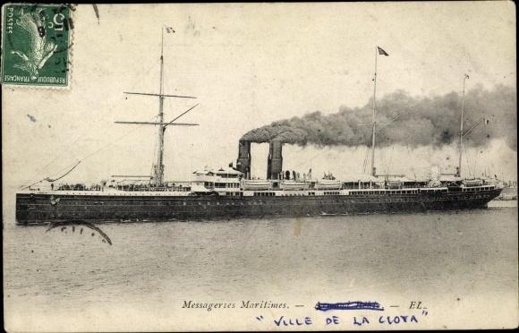 Ak Paquebot Ville de la Ciotat, Dampfschiff, Messageries Maritimes, MM