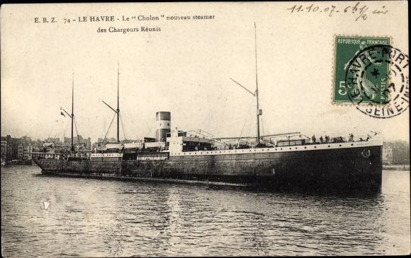 Le Havre Seine Maritime, Dampfer Cholon, Compagnie des Chargeurs Reunis