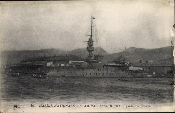 Ak Französisches Kriegsschiff, Amiral Trehouart, Garde Cote Cuirasse