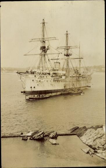 Foto Ak Französisches Kriegsschiff