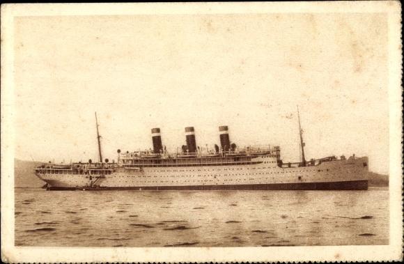 Ak Paquebot SS Providence, Fabre Line, Dampfer