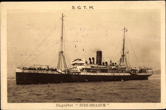 Ak Paquebot Sidi Brahim, SGTM, Dampfer