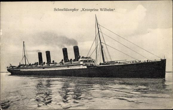 Ak Schnelldampfer Kronprinz Wilhelm, Norddeutscher Lloyd Bremen