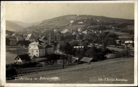 Foto Ak Vimperk Winterberg Böhmerwald Südböhmen, Gesamtansicht
