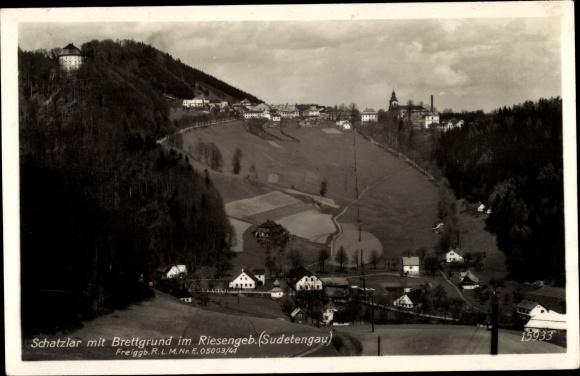 Ak Žacléř Schatzlar im Riesengebirge Region Königgrätz, Brettgrund