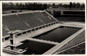 Ak Berlin Charlottenburg, Reichssportfeld, Das Schwimmstadion, Kampfbahn, Olympia 1936